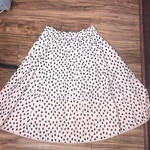 Kate spade skirt the rules pink black spotted 6